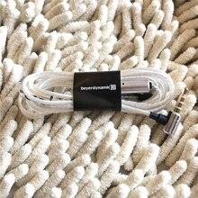 Câble audio 3.5mm plaqué argent avec micro et télécommande pour écouteurs Beyerdynamic XELENTO
