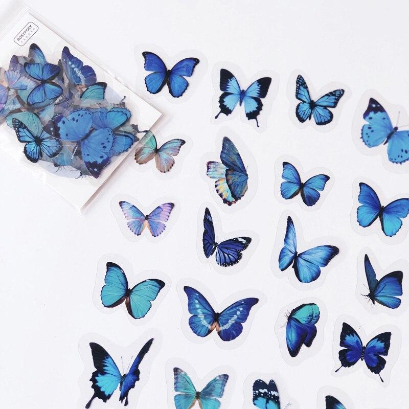 40-pz-pacco-blu-di-stile-della-farfalla-adesivo-decorativo-diario-mestiere-notebook-del-computer-fai-da-te-decor