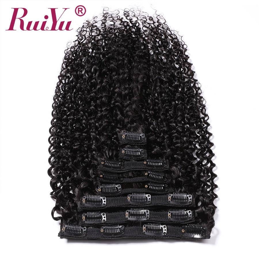 Cabello peruano rizado Clip Ins extensiones de cabello humano de cabello Clip en extensiones de cabello Natural Remy Clip Ins 8 unid/set 120g 10-28 pulgadas