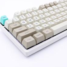 MP SA KEYCAPS PBT rétro Beige Keycap colorant-Sublimation Keycap Cherry MX switch Keycaps pour clavier de jeu mécanique USB filaire
