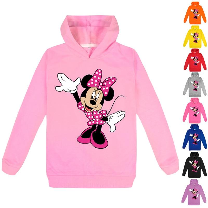 Осенне зимняя одежда с Минни, толстовка с капюшоном с 3D рисунком Микки Мауса для малышей, детей, мальчиков и девочек, топы, детская одежда|Толстовки и кофты| | АлиЭкспресс