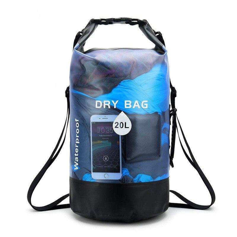 Waterproof Bucket Bag Outdoor Sports Water Bag PVC Transparent Waterproof Bucket Bag Drift Bag Dry Bag