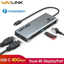 [Intel Certified] Thunderbolt 3 Dual 4K@60Hz USB C Docking Station USB 3.0 Gigabit Ethernet Dual 4K DisplayPort MacBook Pro OSX