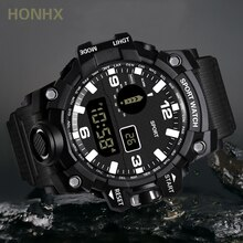2021Atticus Store Men Sports Watches Dual Display Analog Digital LED Electronic Quartz Wristwatches