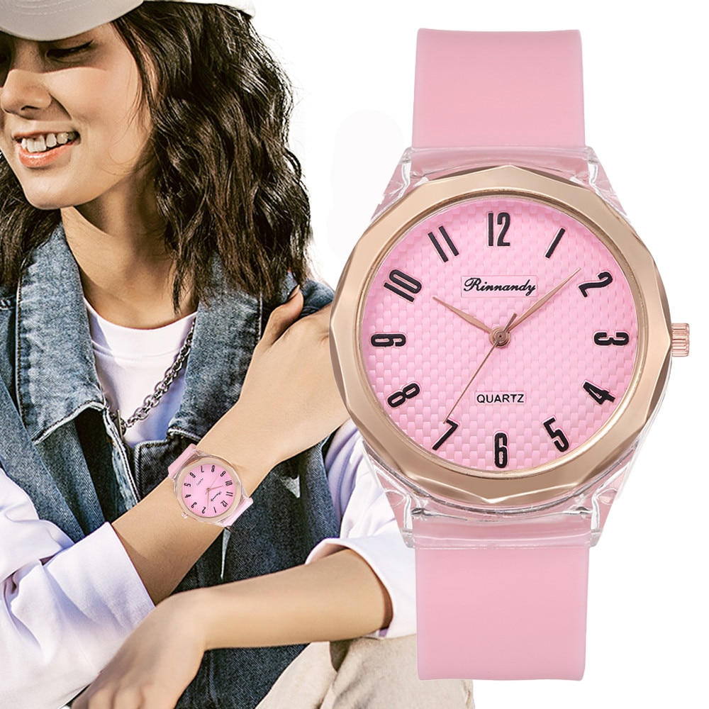 Qualities Women Fashion Watches Luxury Female Dress Watch Leisure silicone Ladies Quartz Wristwatche