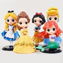 DISNEY Q posket prenses bebek Rapunzel Elsa Anna figürü oyuncak bebek oyuncak kek dekor doğum günü partisi