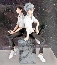 Véritable 2 pièces Nagisa Kaworu + Ikari Shinji modèle danime 18cm EVA 3.0 vous pouvez (pas) avancer jouet figurines Statue