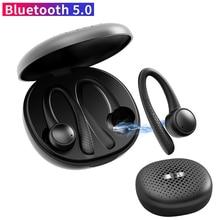 T7 Pro TWS Drahtlose bluetooth 5,0 Kopfhörer Earhooks Silikon Weiche Hifi Stereo Sports In-ear-ohrhörer Headset mit Lade Box