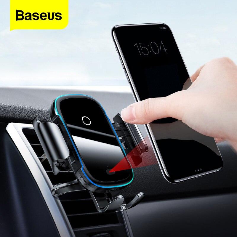 Baseus Автомобильный держатель для телефона зарядное устройство для iPhone 11 Pro Max samsung быстрая Беспроводная зарядка интеллектуальное 15 Вт Qi Беспроводное Автомобильное зарядное устройство