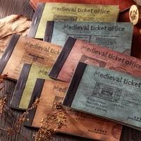 20 Sheets Medieval Book Pages Ticket Label Material Paper Junk Journal Planner Scrapbooking Vintage Decorative Diy Craft Paper