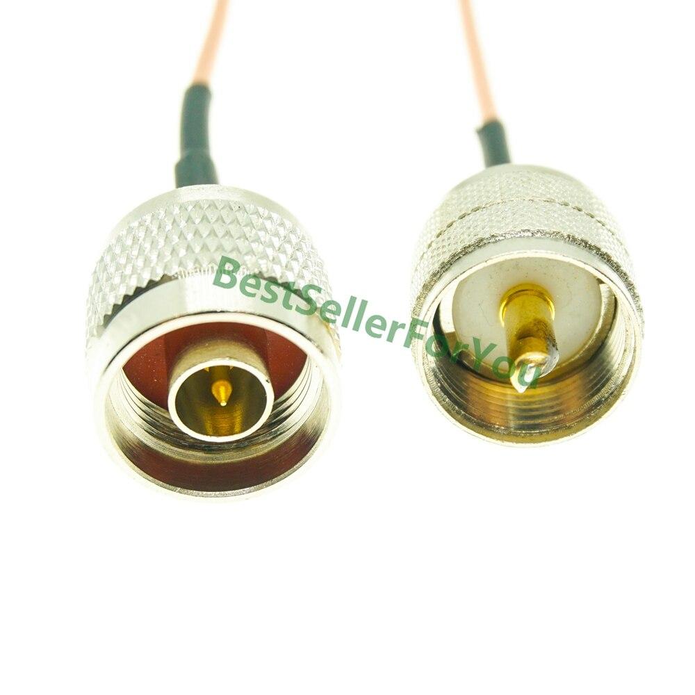 Conector macho tipo N a macho UHF PL259 enchufe RG316 50 Ohm...