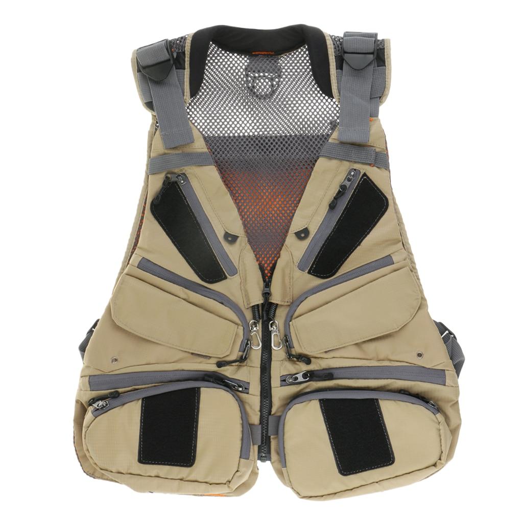 Multi Pocket Fly Fishing Vest Pack Fishing Vest Fishing Backpack ) Outdoor Mesh Fishing Vest chaleco de pesca