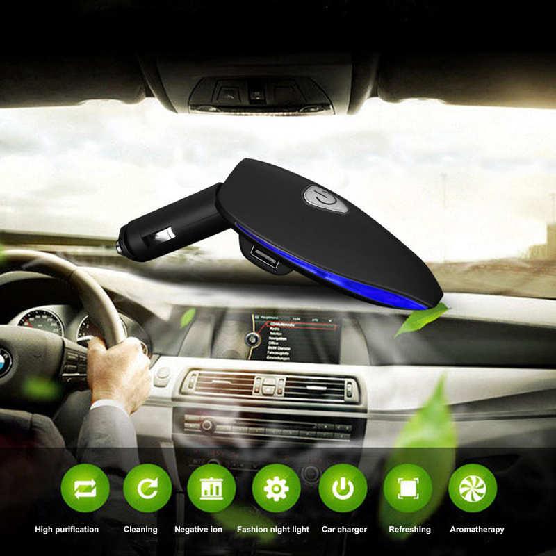 Автомобильный очиститель воздуха, Фотокаталитический Очиститель воздуха, очиститель воздуха, Анионный очиститель воздуха, черный очистит...