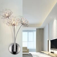 modern american luxury crystal wall lamp simple living room bedroom bedside lamp decor home wall sconce light fixture luminaria