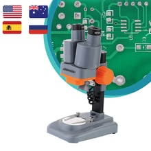 40X Binocular Stereo Microscope with Above LED Wide Field of Vision for PCB Solder Mobile Repair Too