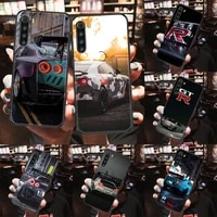 gtr car sports phone case for xiaomi redmi note 7 7a 8 8t 9 9a 9s 10 k30 pro ultra black pretty hoesjes painting bumper soft