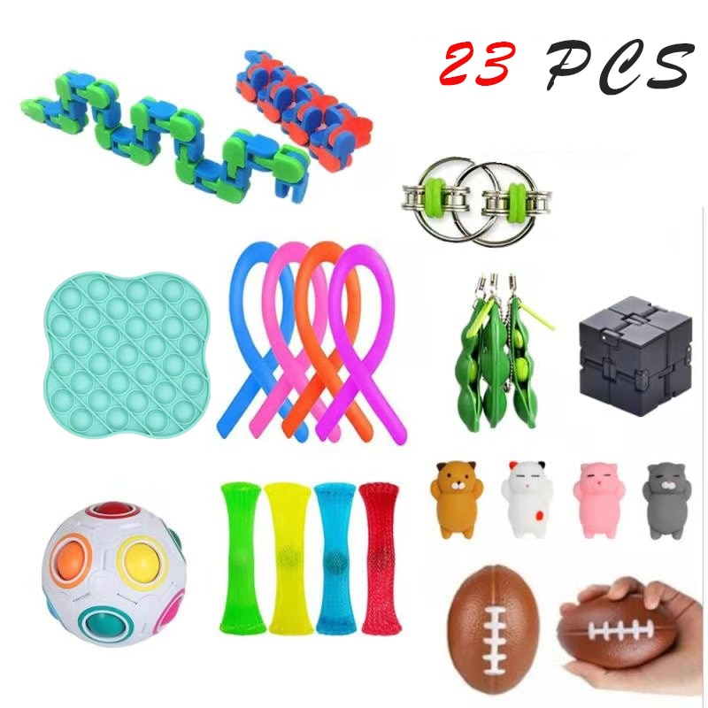 Fidget Toys 18/21/23PCS Pack Sensory Toy Set Antistress Relief Autism Anxiety Anti Stress Bubble for Kids Adults enlarge
