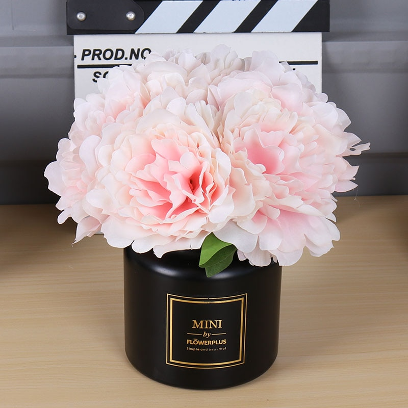 5 Heads/ Bouquet Artificial Peony Flowers Home Decor Silk Fake Flower Peonies artificial flowers for Wedding DIY decoration
