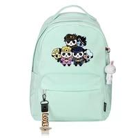 anime jojo adventure nylon backpacks black cartoon printing kid school bags kawaii unisex waterproof bookbags small packs