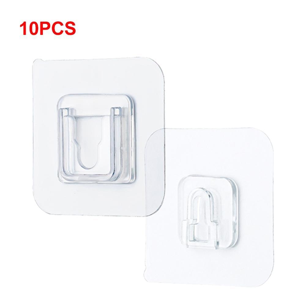 10kom dvostrane ljepljive zidne kuke, jake prozirne kuke usisni držač zidni držač za odlaganje kuka kuka