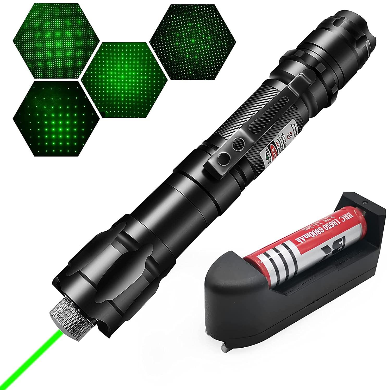 Лазерная указка высокой мощности, 5 мВт, 532 нм, зеленая и красная точка, лазерный светильник, мощное лазерное устройство, лазерная ручка