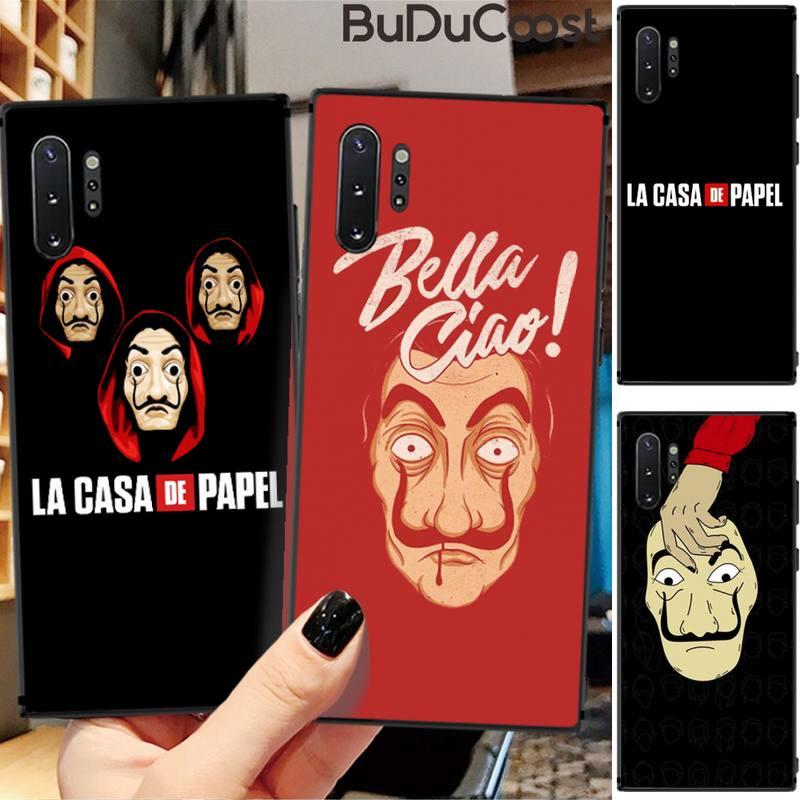 Espanha tv la casa de papel caixa do telefone para samsung galaxy note 4 5 7 8 9 10 pro lite m10 20 30 a7 a8 a9 estrela 2018