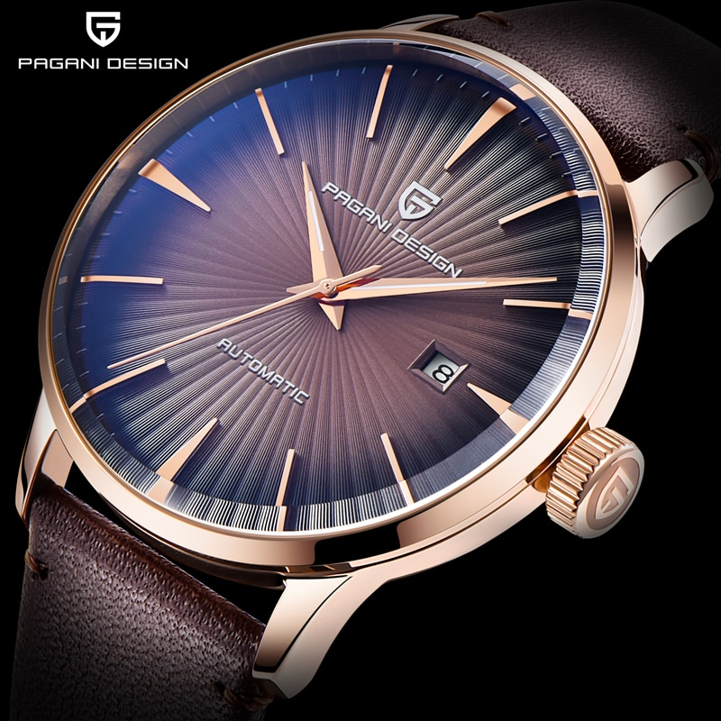 PAGANI 2021 New Men's Watches Classic Mechanical Leather Watch Men Luxury Men Automatic Watches Business Waterproof Clock Man enlarge
