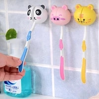 lovely cartoon toothbrush holder animal head toothbrush holder stand cup suctions wholesale
