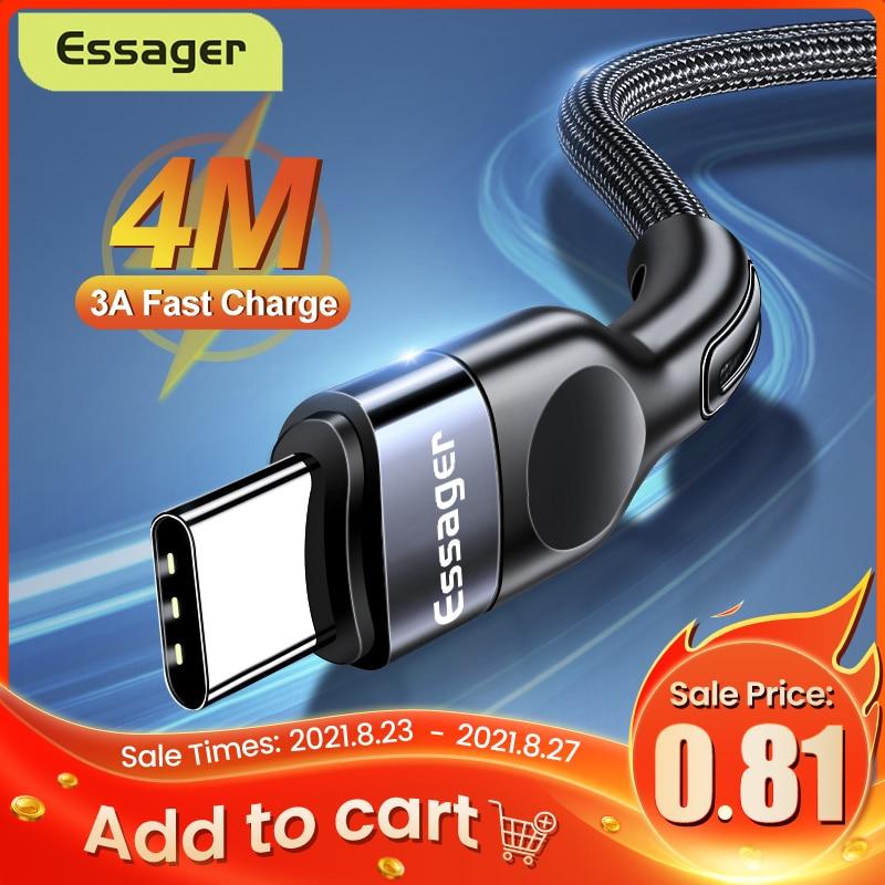 Essager-Cable USB tipo C para móvil, Cable de USB-C de carga rápida...