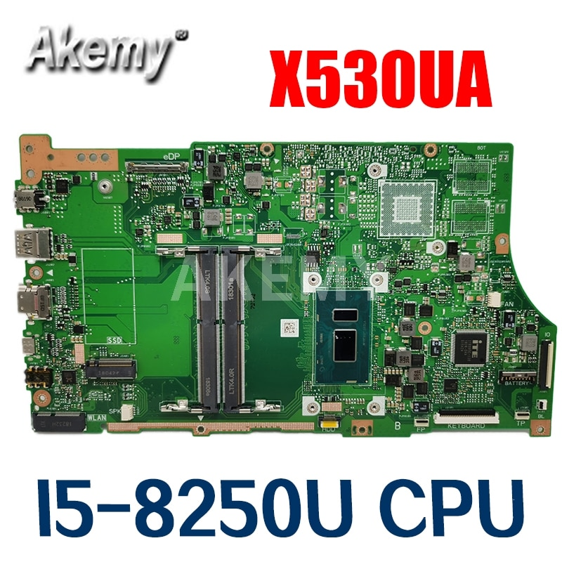 Akemy X530UA I5-8250U اللوحة ل ASUS VivoBook S15 S530U S530UA X530U X530UA X530UN اللوحة المحمول X530UA اللوحة