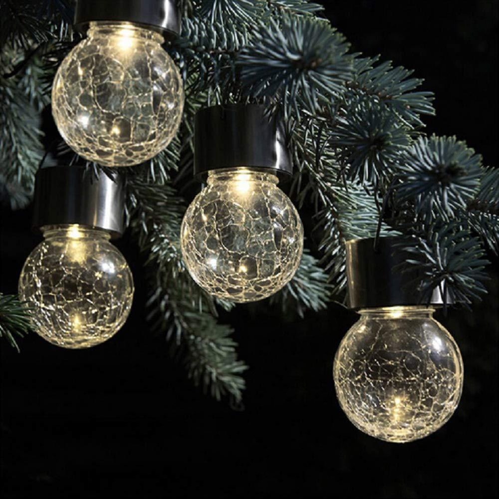 Outdoor Hanging Solar Cracked Glass Ball Waterproof Tree Hanging Spherical Light Garden Balcony Courtyard Path Party Decoration enlarge