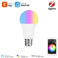 Ampoule LED Tuya Smart Zigbee 3 0  ampoule intelligente RGBCW  E27  Compatible avec Alexa Google Home