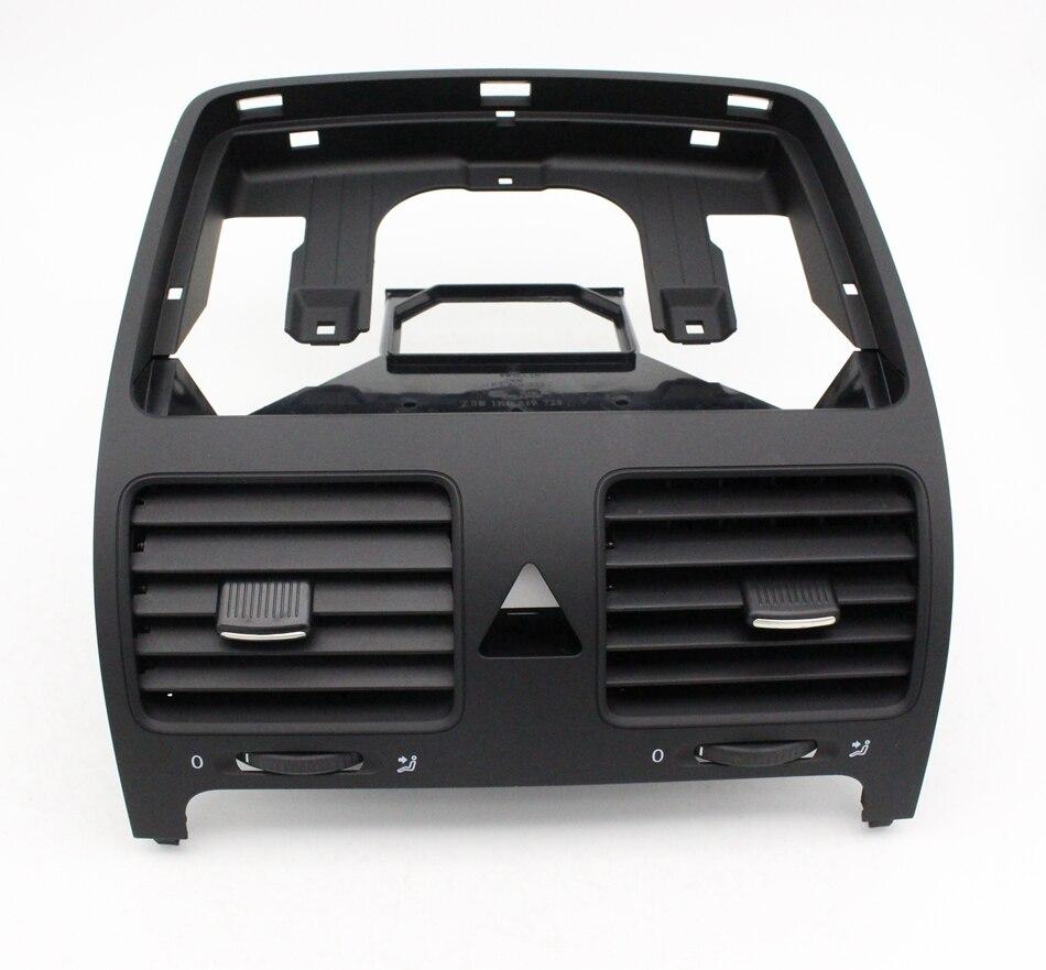 Nuevo Negro frente Dash Central salida de aire 1K0 819 728 F para VW Volkswagen Jetta Golf GTI Rabbit MK5 1K0 819 728 F 1QB
