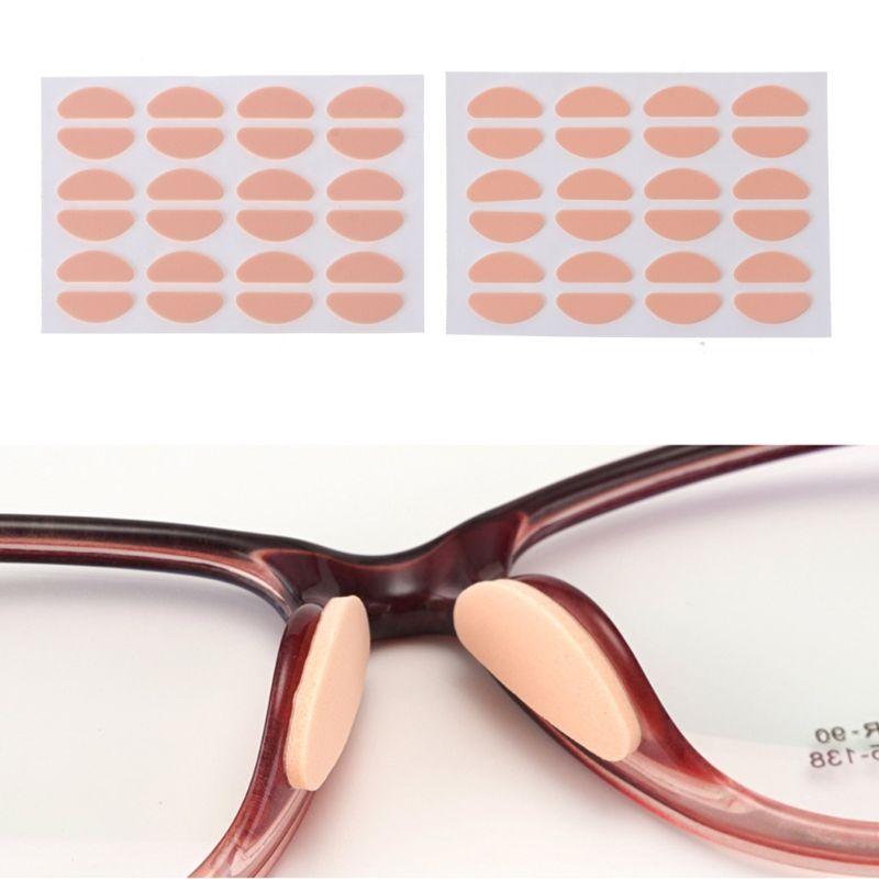 12 paar Weiche Schaum Nase Pad Invisible Haut Farbe Gläser Halter Pads Anti-Slip Anti Make-Up Brillen Sonnenbrille Nase pads