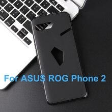ASUS ROG téléphone 2 ZS660KL Coque en silicone souple en polyuréthane mat solide noir Coque de protection de téléphone pour ASUS ROG téléphone 2 II Capa Coque