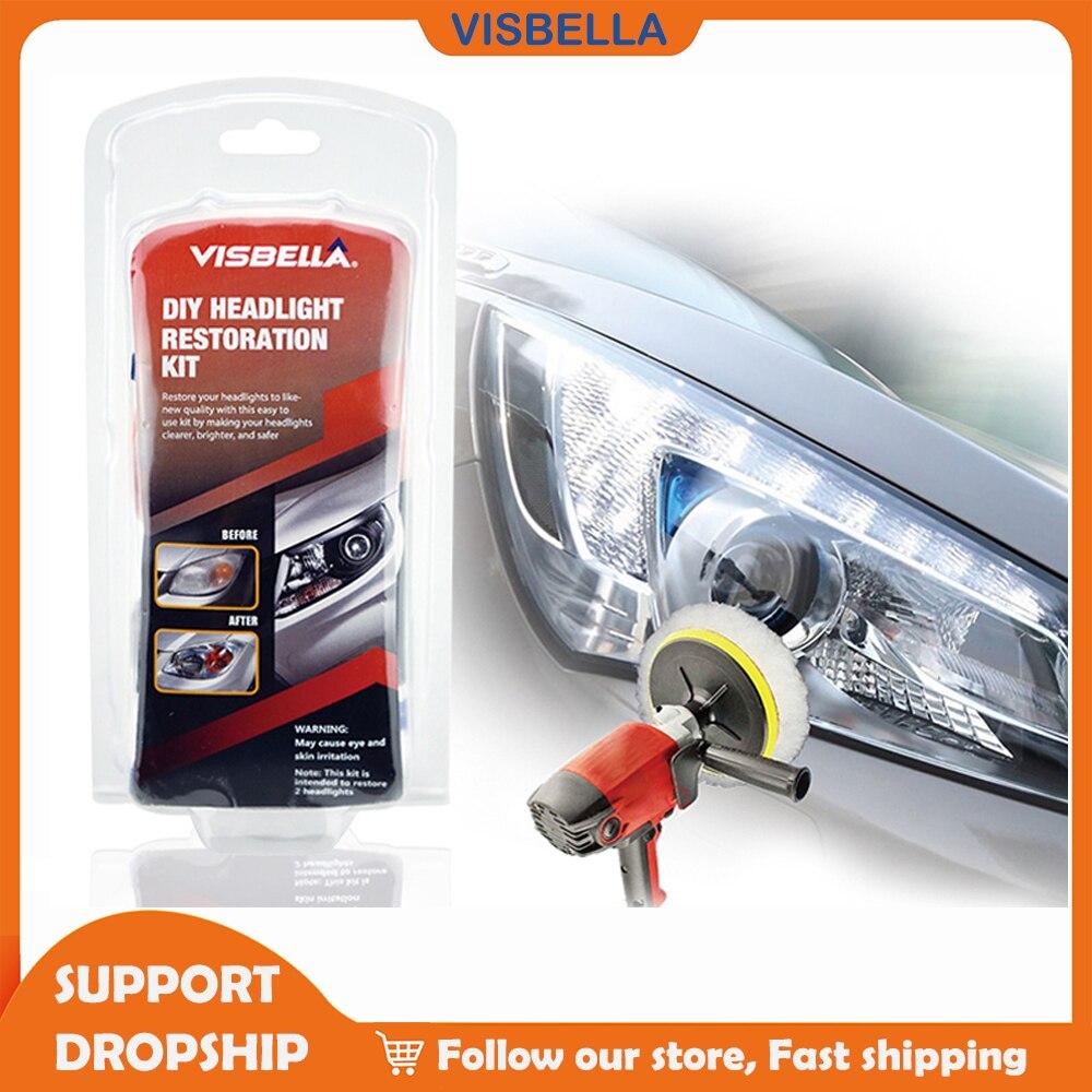 VISBELLA автомобильный налобный фонарь ремонт фар восстановление полировка обновление агент яркий белый для фара для Toyota очиститель ручные ин...