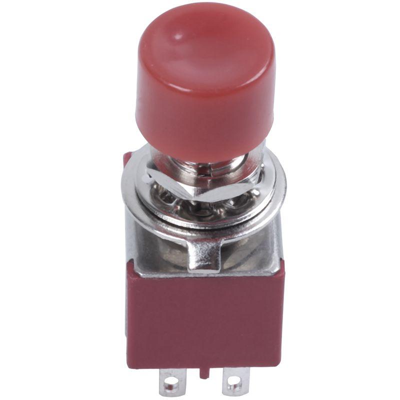 2 uds AC 250V 2A 120V 5A DPDT 2NO 2NC momentáneo empuje interruptor de botón