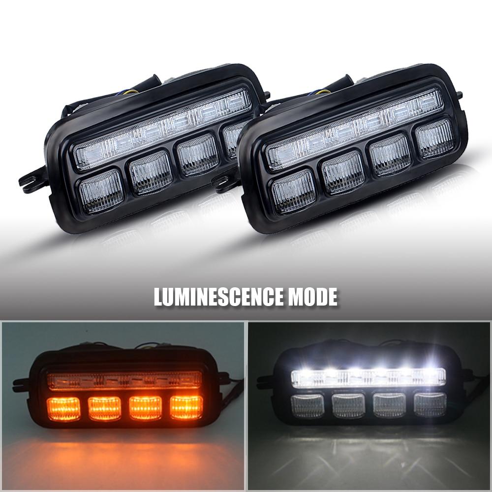 For LADA NIVA 4X4 2121 URBAN Headlight Daytime DRL RUNNING LIGHT AND TAIL LED LIGHT KIT Smoked