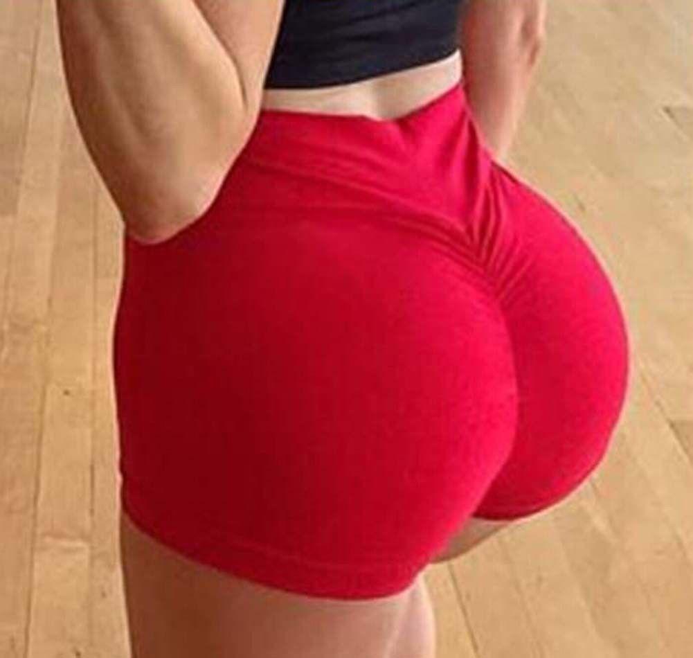 Pantalones deportivos para correr de cintura alta Sexy para mujer, pantalones cortos elásticos de estilo ceñido para gimnasio de verano para mujer