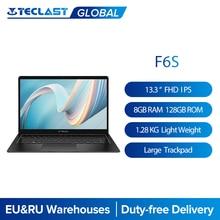 Teclast F6S 13.3 1.28Kg 1920x1080 FHD IPS ordinateur portable léger Intel Apollo Lake Windows 10 ordinateur portable 8GB LPDDR4 128 go SSD