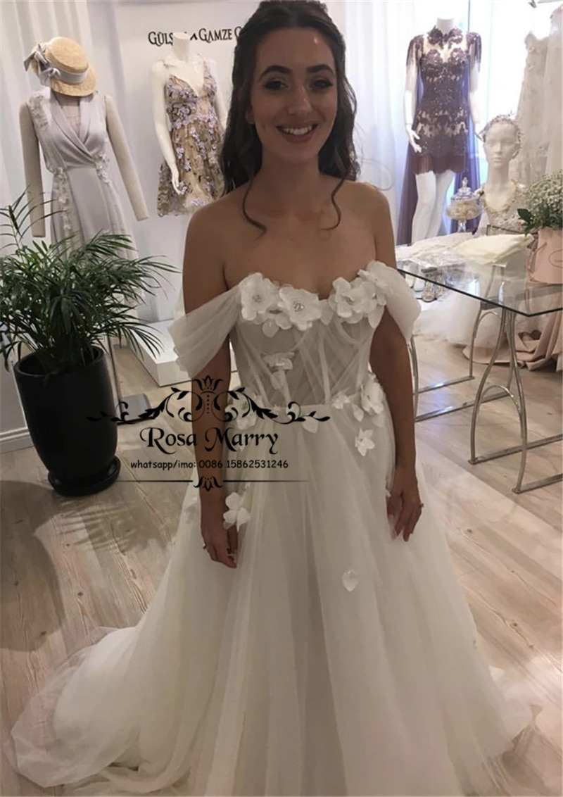 Vestidos De Novia De talla grande con flores 3D, Vestido De boda...