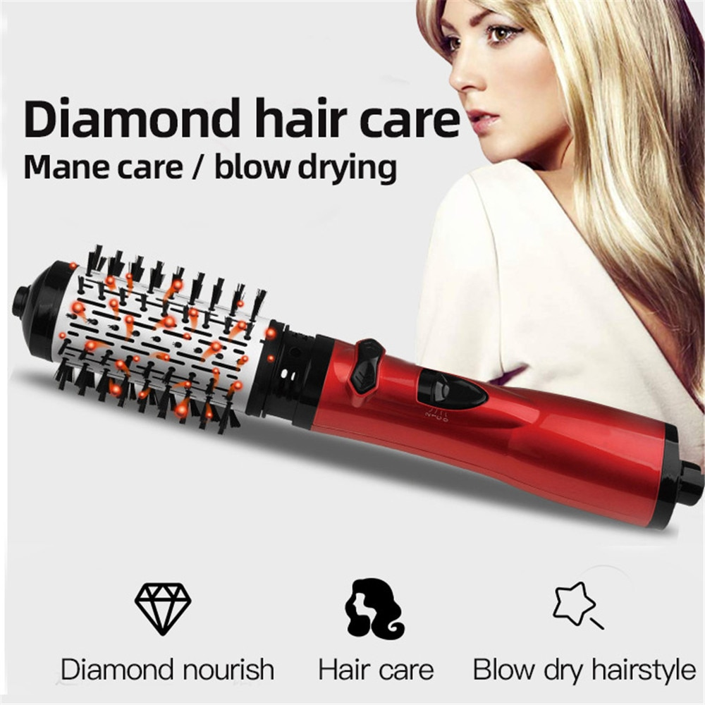 2 IN 1 Hot Air Brush Removable Hair Dryer Brush Portable Hair Styling Tool Hair Straightener And Curler Iron Hair Styler Comb