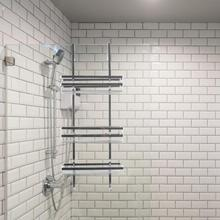 HWC 3 étagères de salle de bain   En acier inoxydable, support de Gel de douche pour shampooing sans poinçon, accessoires de salle de bain 80x30cm