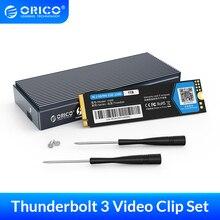 ORICO Thunderbolt 3 4K Video Clip PSSD 40Gbps NVME M.2 SSD 1TB PSSD Thunderbolt 3 Kabel Aluminium externe SSD Für Video Arbeiter
