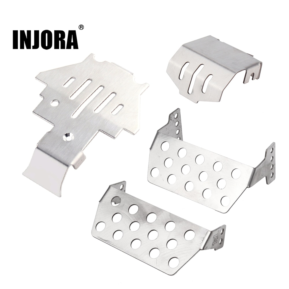 Защитное покрытие для оси INJORA TRX4, из нержавеющей стали, для 1/10 RC Crawler TRAXXAS TRX-4