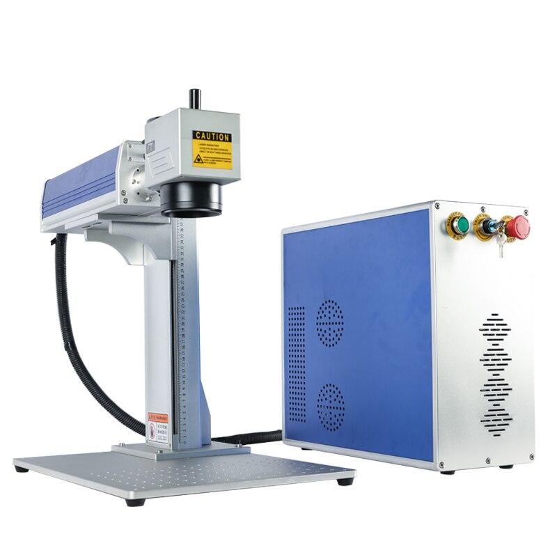 Cortadora láser portátil de fibra de 20W para máquina de marcado de metal lazer grabado portátil 2D mesa de trabajo enrutador cnc