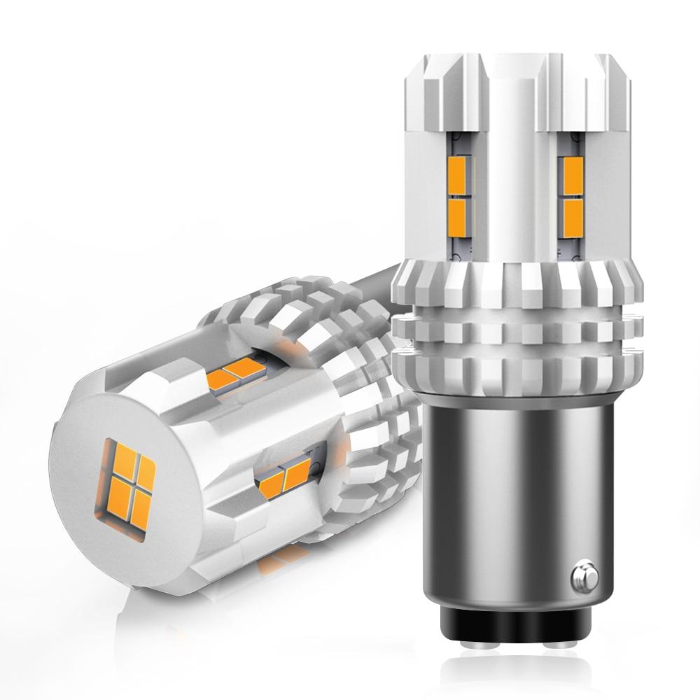 2 uds 1157 P21/W5 BAY15D 2057 luces LED de freno para automóvil 12 Uds 3020 SMD luces LED de circulación diurna para coche bombillas traseras 12V ámbar amarillo