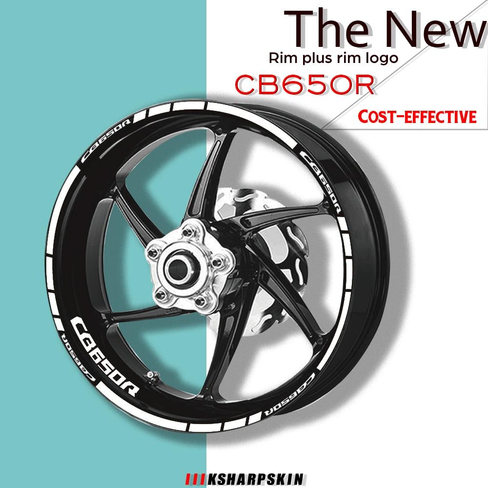 دراجة نارية ملصقا عجلة الإطارات صائق الداخلية الخارجي حافة عاكس شعار الزخرفية لصائق كيت مجموعة لهوندا CB650R cb 650r