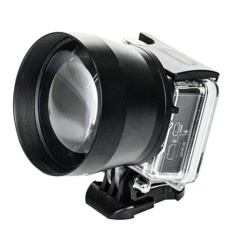 Lente Zoom HD Super teleobjetivo Universal 52mm cámara Digital profesional para Gopro GOPRO 3 + 4 para Xiaoyi OUJ99