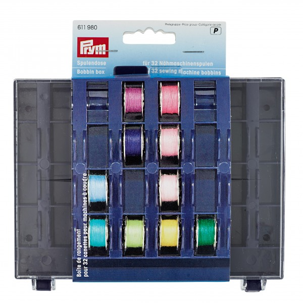 611980 Germany PRYM  Bobbin box for 32 sewing machine bobbins